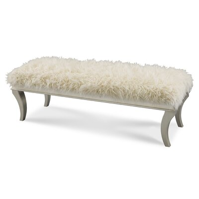 Michael Amini Hollywood Swank Upholstered Bedroom Bench