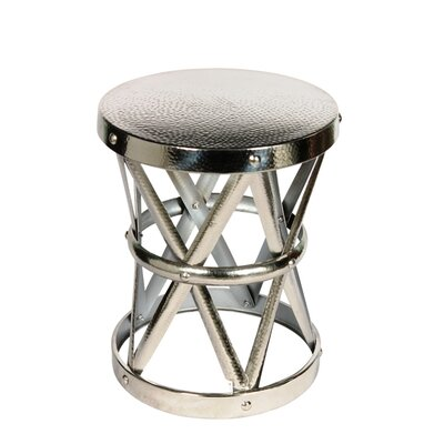 Fashion N You by Horizon Interseas Hammered Drum Cross Table / Stool