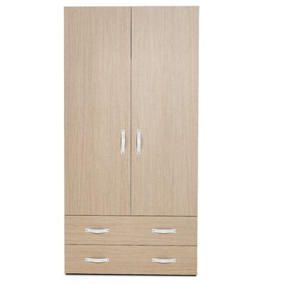 Bestar Clic Furniture 2 Door Armoire with Drawers Image