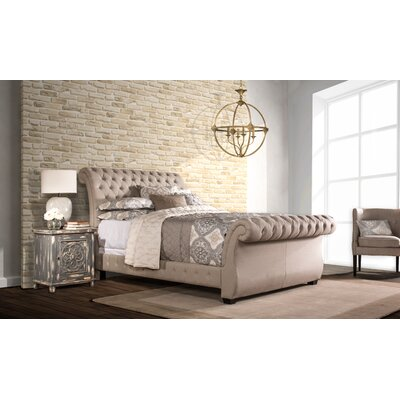 House of Hampton Leighton Upholstered Sleigh Bed