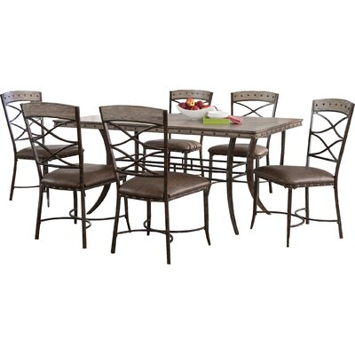 Loon Peak Luxton 7 Piece Dining Set