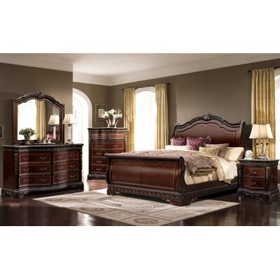 Ultimate Accents Sleigh 5 Piece Bedroom Set