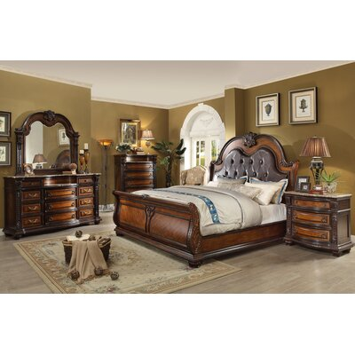 ultimate accents old world queen sleigh 5 piece bedroom
