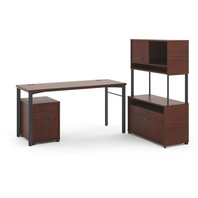 Basyx by HON Manage L-Workstation Desk Office Suite