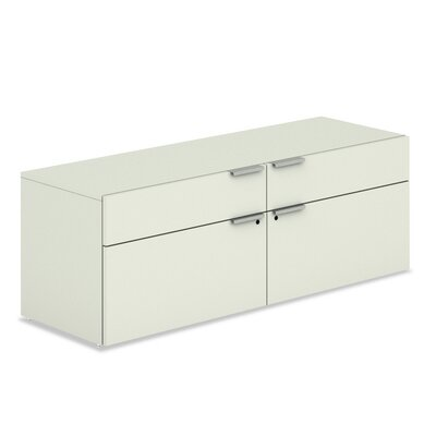 Basyx by HON Voi Low Credenza with 2 Box and 2 File Drawers