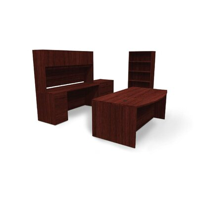 Basyx by HON BL Series 3-Piece Standard Executive Desk Office Suite