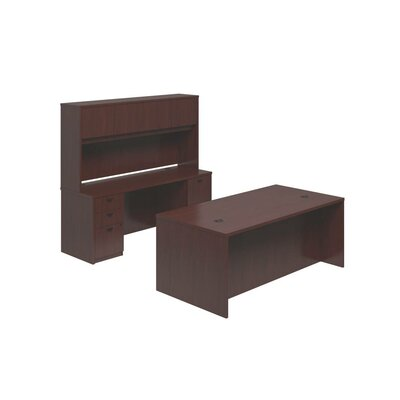 Basyx by HON BL Series 3-Piece Standard Desk Office Suite
