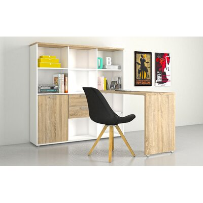 Latitude Run Liles Writing Desk with 12 Shelf 57.44