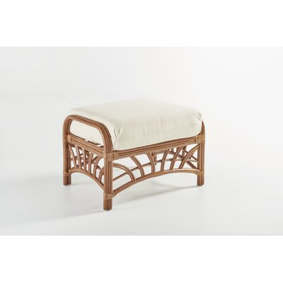 South Sea Rattan New Kauai Jasmine Antique Stripe Ottoman