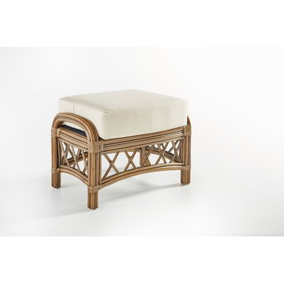 South Sea Rattan Nadine Jasmine Antique Stripe Ottoman