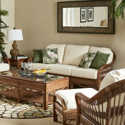 South Sea Rattan Bermuda Grasmere Cocoa Sofa