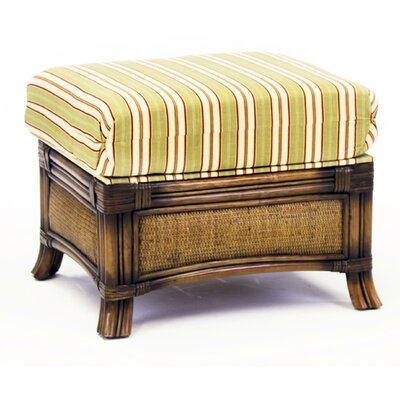 South Sea Rattan Pacifica Grasmere Cocoa Ottoman Image