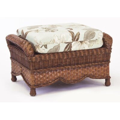 South Sea Rattan Autumn Morning Jasmine Antique Stripe Ottoman