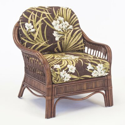 South Sea Rattan Bermuda Vera Cruz Fossil Armchair