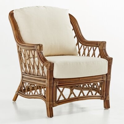 South Sea Rattan Nadine Jasmine Antique Stripe Armchair