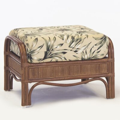 South Sea Rattan Bermuda Ariel Sunset Ottoman