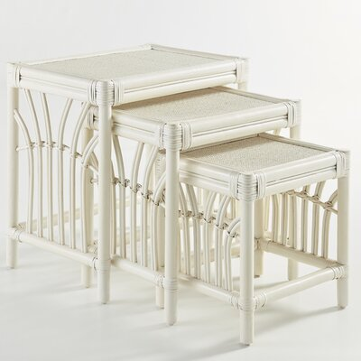 South Sea Rattan New Kauai 3 Piece Nesting Tables