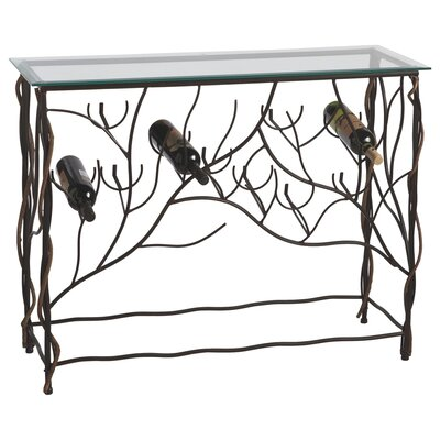 CBK Wine Table with 10 Bottle Floor Wine Rack
