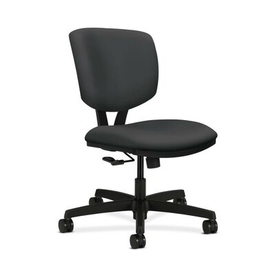 HON Volt Adjustable Mid Height Task Chair in Grade V Silvertex Vinyl