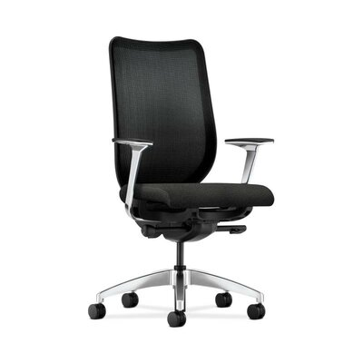 HON Nucleus Mesh Back Task Chair with Aluminum Arms and Base in Grade III Confetti Fabric