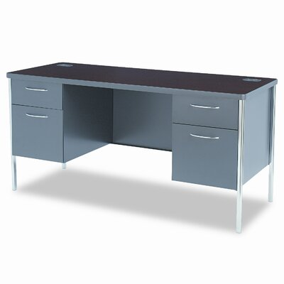 HON Metro Classic Computer Desk with Double Pedestal