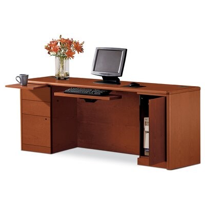 HON 10700 Series Left Box/Box/File Computer Desk with Right CPU Storage