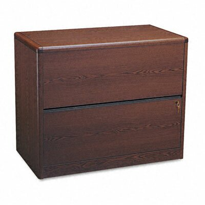 HON 10700 Series Two-Drawer Lateral File, 36w x20d x 29-5/8h, Mahogany