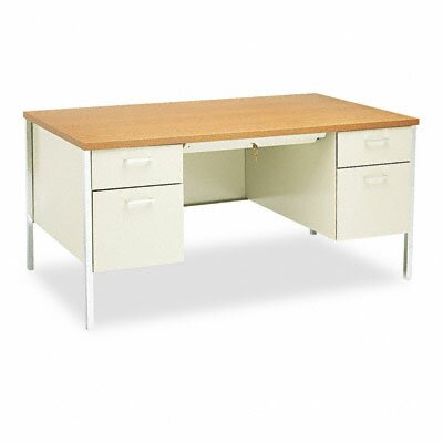 HON 34000 Series Computer Desk with Double Pedestal