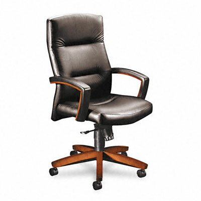 HON Park Avenue High-Back Leather Executive Chair with Arms