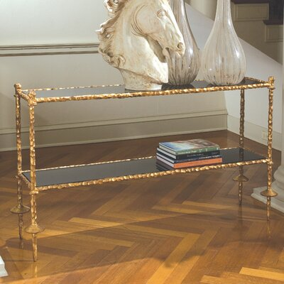 Global Views Gold Chiseled Console Table