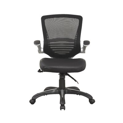 Symple Stuff Mid-Back Mesh Conference Chair with Faux Leather Seat (Set of 2)