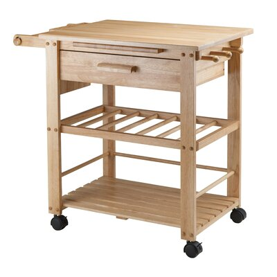 Winsome Finland Kitchen Cart with Wooden Top