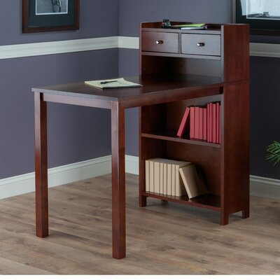 Latitude Run Mason Writing Desk with Storage Shelf