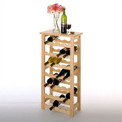 Winsome Basics 28 Bottle Floor Wine Rack