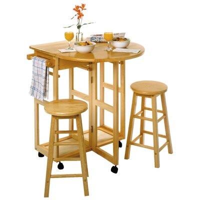 Beachcrest Home Wynyard 3 Piece Dining Table Set
