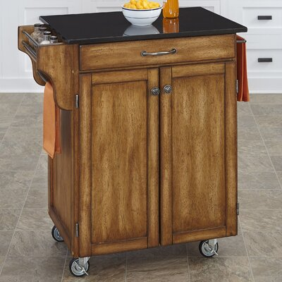 Home Styles Cuisine Kitchen Cart with Granite Top
