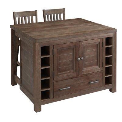 Home Styles Barnside Kitchen Island Set