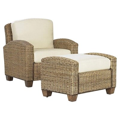 Home Styles Cabana Banana Cotton Armchair and Ottoman