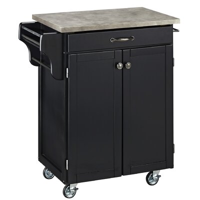 Home Styles Cuisine Cart Kitchen Cart with C..