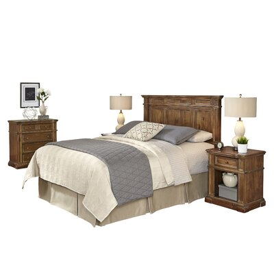 Home Styles Americana Vintage Platfrom 4 Piece Bedroom Set