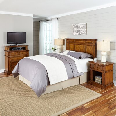Home Styles Americana Platfrom  4 Piece Bedroom Set