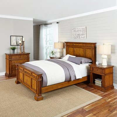 Home Styles Americana Panel 3 Piece Bedroom Set