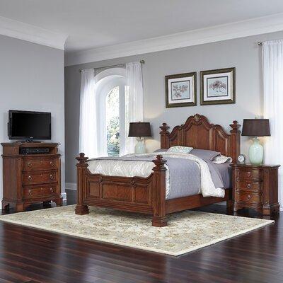 Home Styles Santiago Panel 4 Piece Bedroom Set