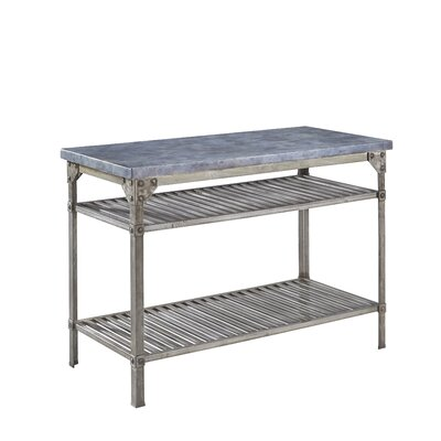 Home Styles Urban Style Prep Table with Concrete..