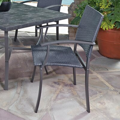 Home Styles Stone Veneer Arm Chair