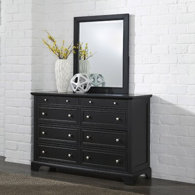 Home Styles Bedford 8 Drawer Dresser with Mirror