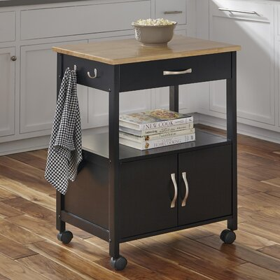 Home Styles Banner Kitchen Cart with Wood Top