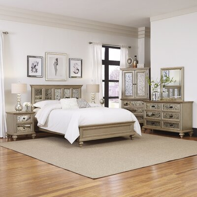 Home Styles Visions Panel 5 Piece Bedroom Set