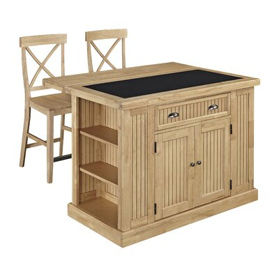 Home Styles Nantucket Kitchen Island Set with Gr..