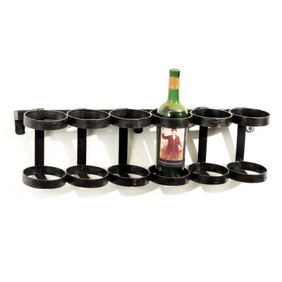 Hip Vintage Ristorante 6 Bottle Wall Mounted Win..